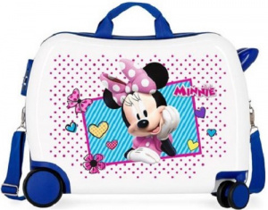 Disney koffer Minnie Joy junior 34 liter ABS wit/blauw