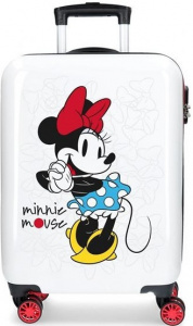 Disney koffer Minnie Magic 33 liter ABS wit/rood