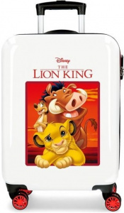 Disney koffer The Lion King junior 37 liter ABS wit/rood