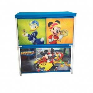 Disney Mickey Mouse opbergkast met 3 lades 60 cm blauw