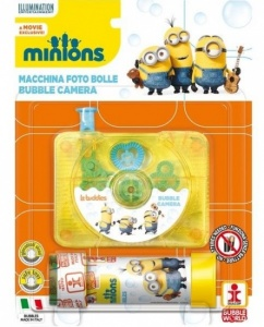 Minions Bellenblaas camera 60 ml geel