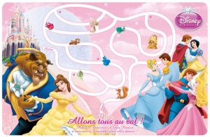 Disney Placemat Princess 43 x 28 cm roze