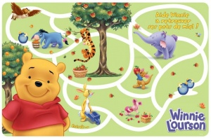 Disney Placemat Winnie the Pooh 28 x 43 cm groen