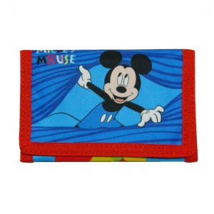 Disney brieftasche Mickey Mouse 7,5 x 13 cm rot/blau