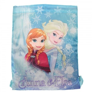 Disney backpack gym bag Frozen with drawstring 42 x 33 cm blue