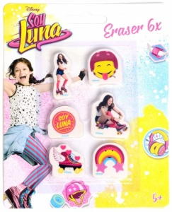 Disney Soy Luna erasers 6-pieces