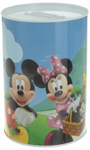 Disney spaarpot Mickey Mouse & Donald Duck 15 cm blik