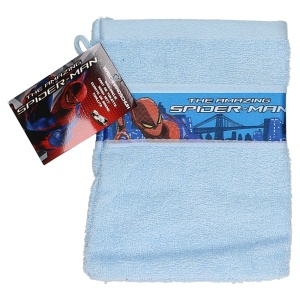 Disney spider-Man washcloth 21 x 16 cm light blue