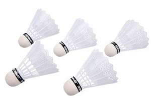 Donnay Shuttlecocks 5 pieces white
