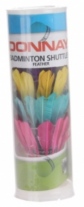 Donnay Shuttlecocks feather multicolor 5 pcs