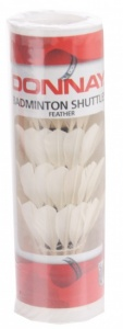 Donnay Shuttlecocks feather white 5 pieces