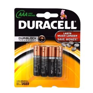 Duracell piles LR03 AAA AAA 4 pièces