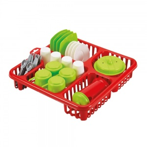 écoiffier play set dishes 31-piece red
