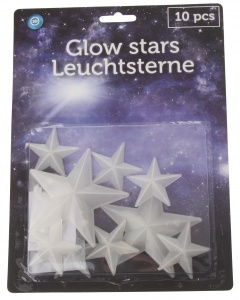 Eddy Toys glow in the dark sterren 10-delig
