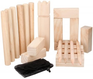 Eddy Toys Kubb werpspel hout 22-delig