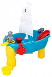 Eddy Toys sand and water table pirates junior 54 cm 19-piece