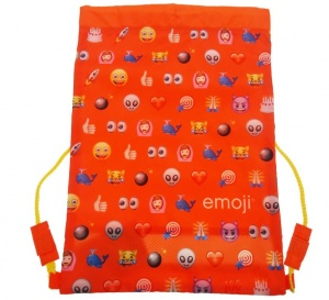 Emoji gymtas all-over print rood/blauw 8 liter
