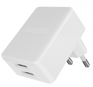 Energizer oplader dubbele USB-poort 4.8A voor iPhone/iPad wit
