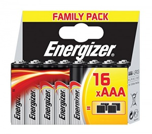 Energizer piles Alimentation LR03 AAA 16 pièces