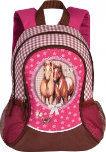 Fabrizio backpack Horses pink 14 liters