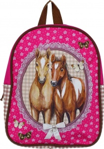 Fabrizio backpack Horses pink 8 liter 6.5 liters