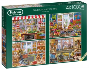 Falcon Legpuzzel Your Favourite Shops 4x1000 stukjes