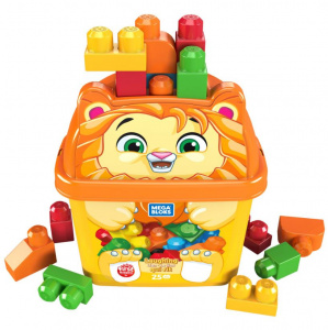 Fisher-Price baueimer Mega Bloks Löwe Junior 26-teilig