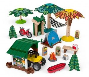 Fisher-Price bausatz Wonder MakersCampingplatz Holz 70teilig