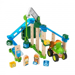 Fisher-Price bausatz Wonder MakersRecyclingzentrum Holz 35-teilig