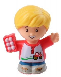 Fisher-Price Little People speelfiguur Eddie junior 6 cm