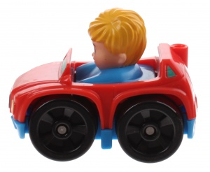 Fisher-Price Little People Wheelies auto 6,5 cm rood (DRG94)