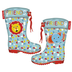Fisher-Price regenstiefel PVC/Textil Junior hellblau