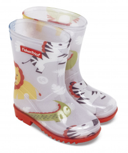 Fisher-Price regenstiefel PVC/Textil Junior weiß