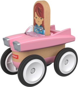 Fisher-Price Wonder Makers auto 9 cm roze/blank 4-delig