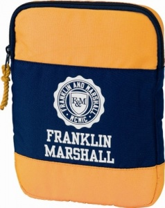 Franklin And Marshall iPad-cover 28 cm donkerblauw/geel