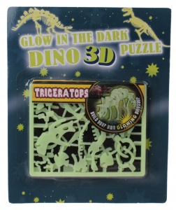 Free and Easy 3D-Puzzle leuchtet im Dunkeln 17 cm Triceratops