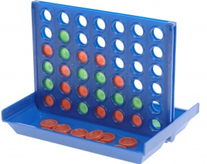 Free and Easy 4-on-1 row travel game junior 15 cm blue/red/green
