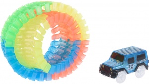 Free and Easy motorway play set with car 57-part blue