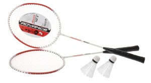Free and Easy badminton-Set 4-teilig weiß/rot