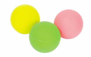 Free and Easy beachball balls 3 pieces green/yellow/pink