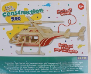 Free and Easy construction kit wood helicopter 35-piece