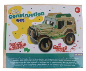 Free and Easy building kit wood jeep 44-piece