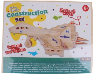 Free and Easy construction kit wood jet fighter 35-piece
