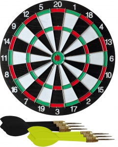 Free and Easy dartbord 30,5 cm 3-delig
