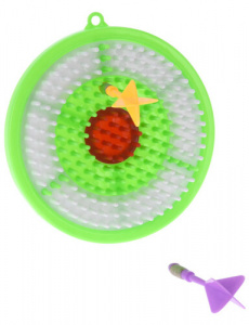 Free and Easy dartbordset junior 16,1 cm groen/wit 3-delig