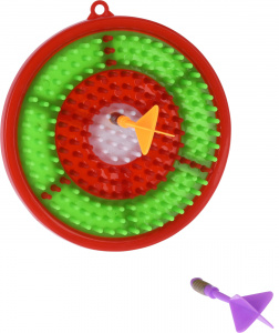 Free and Easy dartbordset junior 16,1 cm rood/groen 3-delig