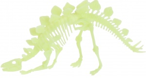 Free and Easy dinosaurus bouwpakket Glow in the Dark 12-delig