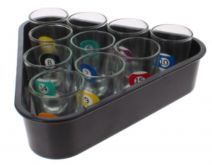 Free and Easy drinking game Shot Glasses 20 cm black 11-piece