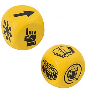 Free and Easy drinking game two dice yellow