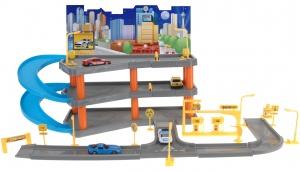 Free and Easy set de jeu de garage avec 4 voitures 62 cm multicolore